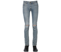 15CM JEANS AUS BAUMWOLLDENIM IM DESTROYED-LOOK