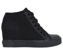 80MM HOHE WEDGE-SNEAKERS AUS STETCH-MESH 'CINDY'