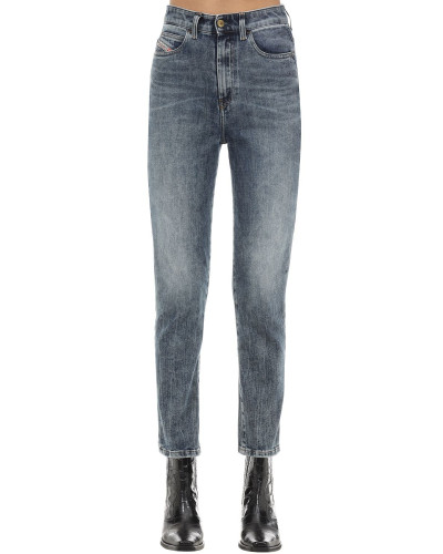 D-EISELLE COTTON DENIM STRAIGHT JEANS