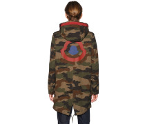 PETER REVERSIBLE CAMO & NYLON PARKA