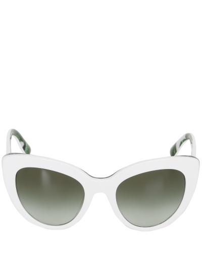 dolce gabbana damen katzenaugen sonnenbrille aus acetat mit druck reduziert. Black Bedroom Furniture Sets. Home Design Ideas