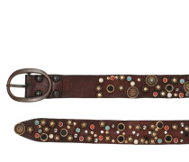 40MM MULTI STUDDED LEATHER BELT