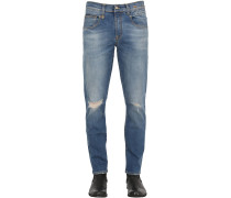 15.5CM BOY DESTROYED STRETCH DENIM JEANS