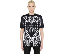 T-SHIRT AUS BAUMWOLLJERSEY 'POWER OF LOVE'