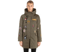 PARKA AUS CANVAS MIT PATCHES 'MARKER'