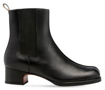 40 mm hohe Chelsea-Stiefel mit eckiger Spitze
