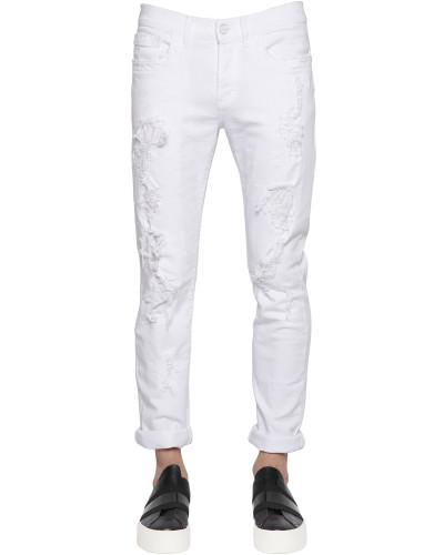 bikkembergs herren 18cm enge jeans aus stretch denim mit. Black Bedroom Furniture Sets. Home Design Ideas