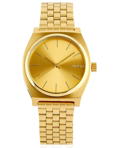nixon damen time teller gold finish dial watch reduziert. Black Bedroom Furniture Sets. Home Design Ideas