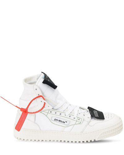 OFF COURT HIGH-TOP LEATHER SNEAKERS
