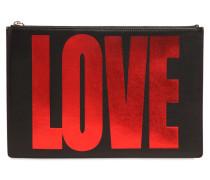 MEDIUM, LAMINIERTER LEDERBEUTEL 'LOVE'