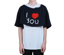 OVERSIZED PULLOVER AUS WOLLSTRICK 'I LOVE YOU'