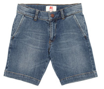 SHORTS AUS VERWASCHENEM STRETCH-DENIM