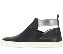 HOHE SLIP-ON-SNEAKERS AUS LEDER