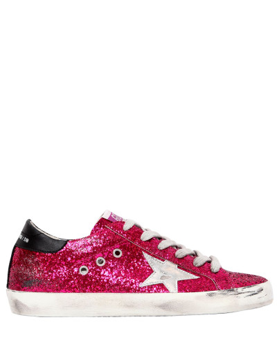 Golden Goose Damen 20MM HOHE SNEAKERS MIT GLITZER 'SUPER STAR'