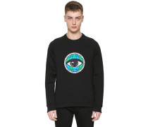 SWEATSHIRT AUS BAUMWOLLE MIT PATCH 'EYE WORLD'
