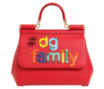 MEDIUM LEDERTASCHE 'SICILY DG FAMILY'