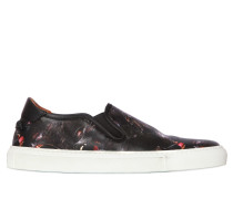 SLIP-ON-SNEAKERS AUS LEDER MIT AFFENDRUCK