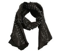 PATCHWORK LEATHER SCARF W/ SAFETY PINS