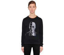 BAUMWOLLSWEATSHIRT MIT STICKEREI 'KARL PHOTO'