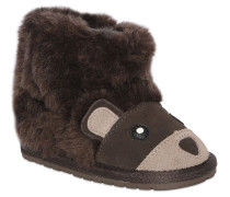 BEAR FAUX SHEARLING & SUEDE BOOTS