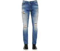 16CM JEANS AUS STRETCH-DENIM