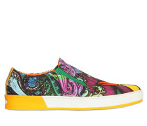 SLIP-ON-SNEAKERS AUS CANVAS MIT VOGELDRUCK