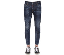17CM JEANS AUS STRETCH-JEANS 'TIDY BIKER OFFICER'