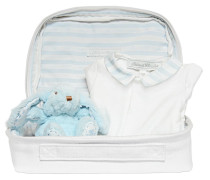 COTTON JERSEY ROMPER, TOY & POUCH