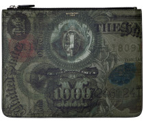 BEUTEL AUS BESCHICHTETEM CANVAS 'ABSTRACT DOLLAR'