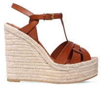 130MM HOHE WEDGE-SANDALEN AUS LEDER 'TRIBUTE'