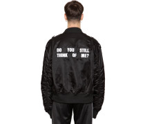 BOMBERJACKE AUS NYLON 'DO YOU STILL...?'