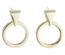 18KT MINI PENDANT HOOP EARRINGS