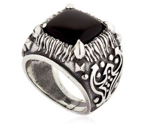 RING AUS STERLINGSIBER MIT ONYX