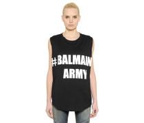 T-SHIRT AUS BAUMWOLLJERSEY 'BALMAIN ARMY'