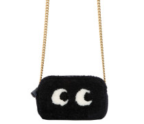 MINI SCHULTERTASCHE AUS SHEARLING 'EYES'