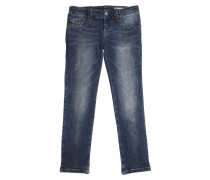 VERZIERTE JEANS AUS STRETCH-DENIM