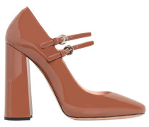 110MM HOHE MARY-JANE-PUMPS AUS LACKLEDER