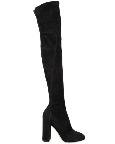 dolce gabbana damen 90mm overknee stiefel aus stretch wildleder reduziert. Black Bedroom Furniture Sets. Home Design Ideas