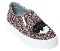 SLIP-ON-SNEAKERS MIT GLITZER