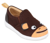 SLIP-ON-SNEAKERS AUS BAUMWOLLGABARDINE 'MONKEY'