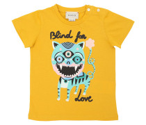 T-SHIRT AUS BAUMWOLLJERSEY 'BLIND FOR LOVE'