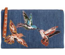 DENIMCLUTCH MIT VOGELPATCHES