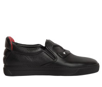 SLIP-ON-SNEAKERS AUS LEDER MIT 3D-MONSTERMOTIV
