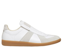 SLIP-ON SNEAKERS AUS LEDER UND WILDLEDER