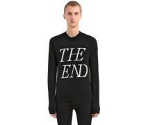 PULLOVER AUS WOLLMSCHJACQUARD 'THE END'
