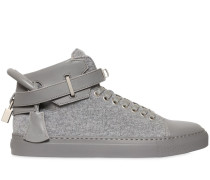 HOHE SNEAKERS AUS WOLLE UND LEDER