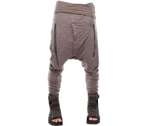 EARTH RESIN COATED WRINKLED JERSEY PANTS