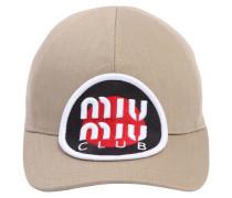 BASEBALLKAPPE AUS BAUMWOLLE 'MIU MIU CLUB'