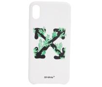 IPHONE XS MAX-COVER MIT SHORTS AUS STRETCH-DENIM MIT DRUCK