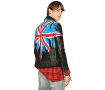 FLAG HAND PAINTED LEATHER BIKER JACKET